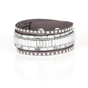 Rock Star Rocker - Silver Wrap Bracelet Jewelry